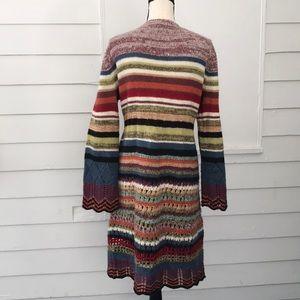 Relais Knitware Sweaters - Relais Long Cardigan Sweater Multicolor Boho L